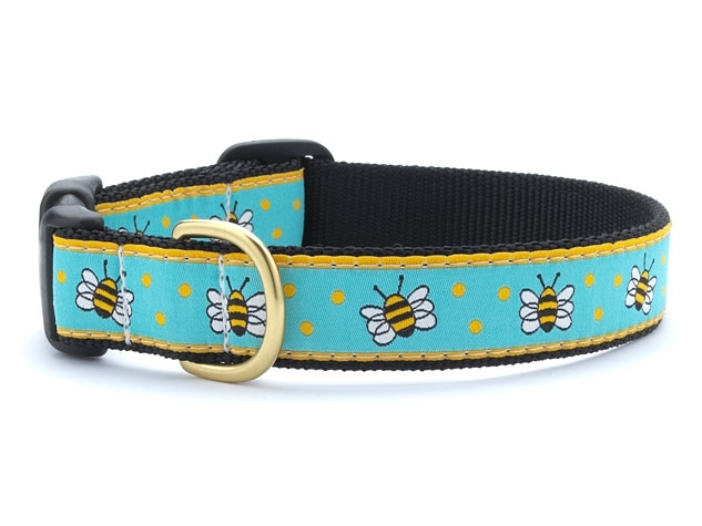 "Dog Collars: 5/8"" or 1"" Wide Bees Clip Collar"