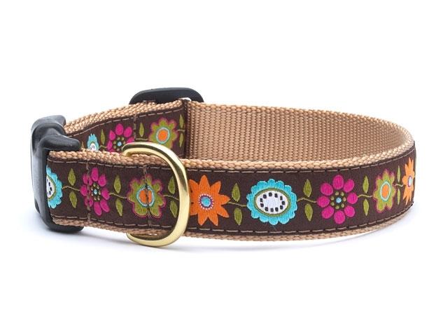 "Dog Collars: 5/8"" or 1"" or 1.5"" Wide Bella Floral Clip Collar"