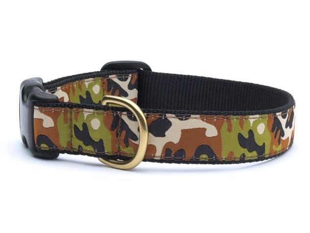 "Dog Collars: 5/8"" or 1"" Wide Camo Clip Collar"