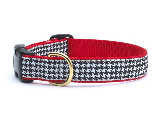 "Dog Collars: 5/8"" or 1"" Wide Houndstooth Clip Collar"