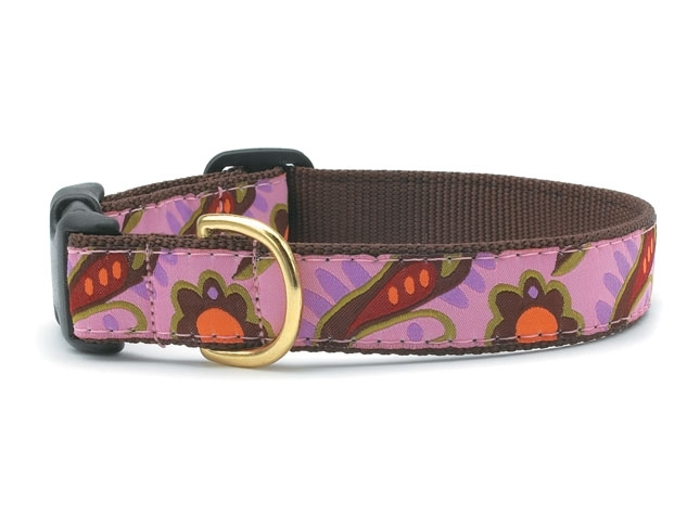 """Dog Collars: 5/8"""" or 1"""" Wide Lush Paisley Clip Collar"""
