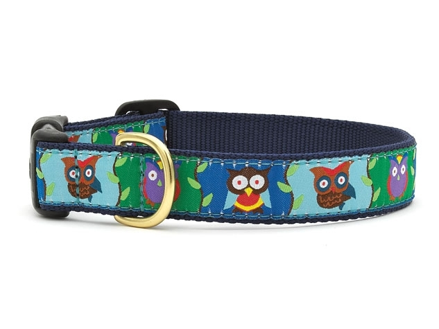 "Dog Collars: 5/8"" or 1"" Wide Owls Clip Collar"