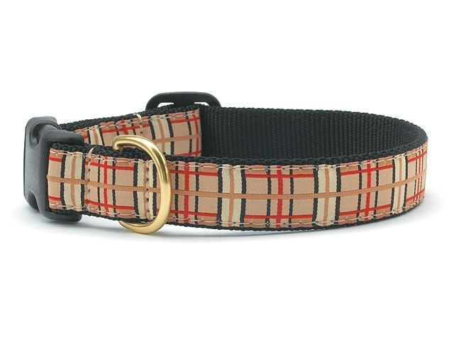"Dog Collars: 5/8"" or 1"" or 1.5"" Wide Up Country Plaid Clip Collar"