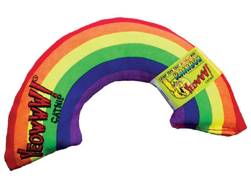 Cat Toy:  YEOWWWWW Rainbow Organic Catnip Toy