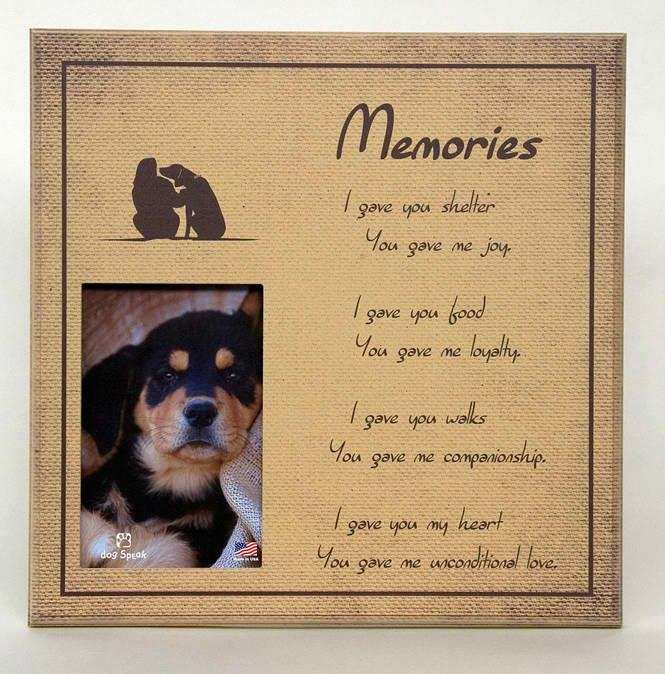 Sympathy:  Memories Picture Frame
