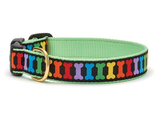 "Dog Collars: 5/8"" or 1"" Wide Rainbones"