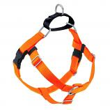NEON ORANGE Freedom No-Pull Harness with Black Back Loop