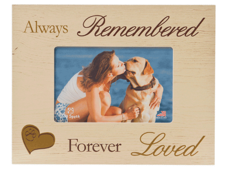 "Sympathy:  Picture Frame ""Always Remembered Forever Loved"""