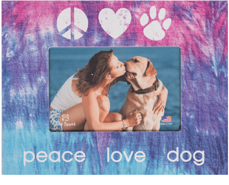 "Gifts:  Picture ""Frame Peace Love Dog"""