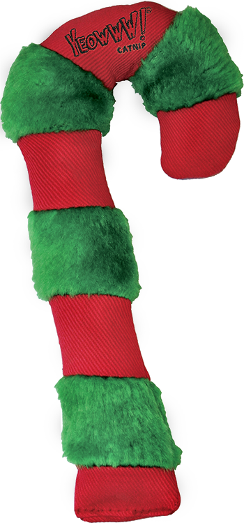 Cat Toy:  Holiday Candy Cane Organic Catnip Toy