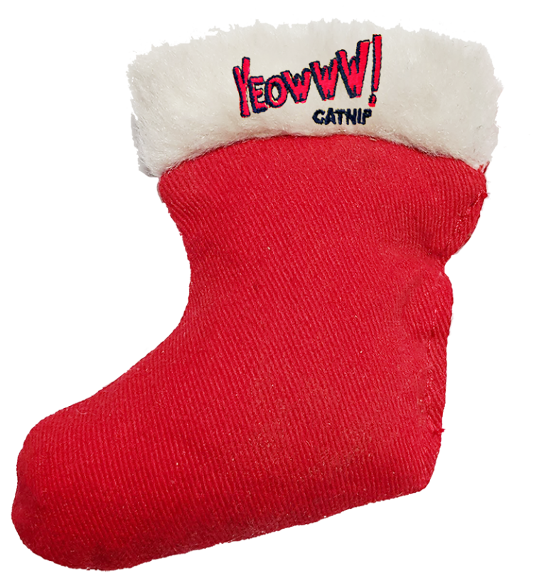 Cat Toy:  Holiday Stocking Toy Yeowww! Stuffed with Organic Catnip