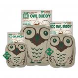 Dog Toy: Eco Owl Quiet Dog Toy (no Squeaker), Large 10""