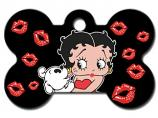 Engraved ID Tag:  Large Bone Shape Betty Boop
